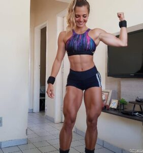 hot chick with muscle body and muscle biceps picture from tumblr