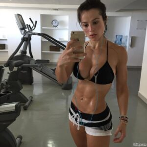 hottest lady with muscle body and muscle booty post from linkedin