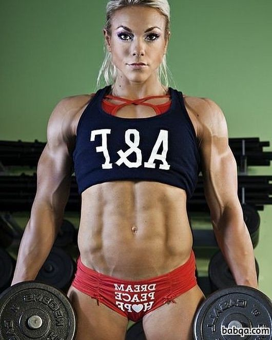 perfect girl with strong body and toned arms image from reddit