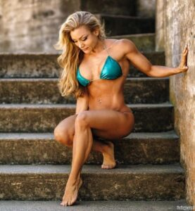 awesome female bodybuilder with fitness body and toned legs repost from linkedin