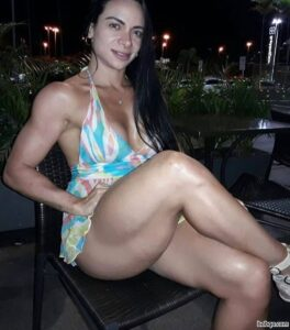 perfect female bodybuilder with muscle body and muscle biceps pic from facebook