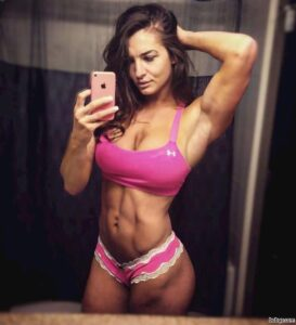 hottest female bodybuilder with strong body and toned booty photo from facebook