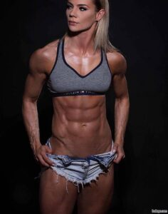 sexy woman with muscle body and muscle booty pic from g+