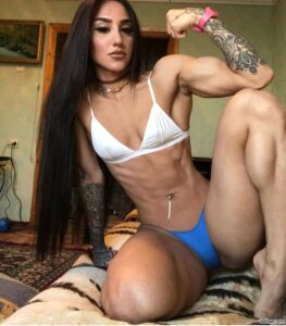 hot female bodybuilder with fitness body and toned ass repost from g+