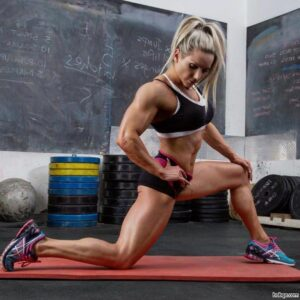 hot woman with fitness body and muscle legs repost from linkedin