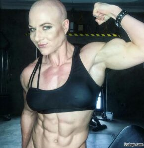 perfect female with muscular body and muscle biceps pic from reddit