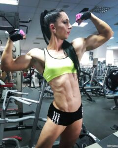 cute female bodybuilder with muscular body and muscle legs image from facebook
