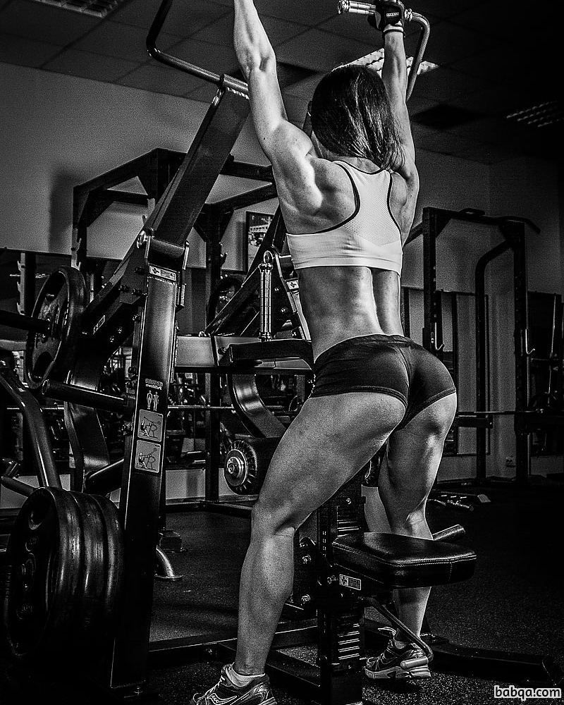 hot female bodybuilder with strong body and toned legs repost from insta