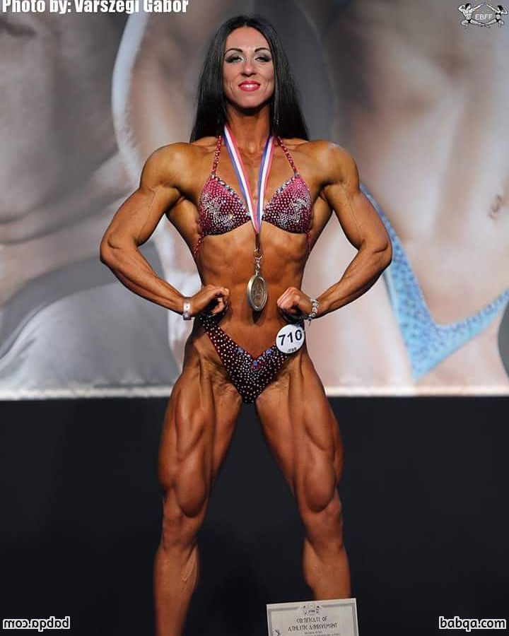 beautiful chick with muscle body and toned biceps image from linkedin
