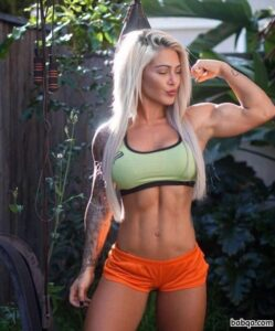 spicy girl with muscular body and muscle arms repost from g+