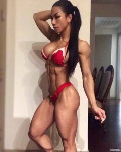 hot female with muscle body and muscle booty picture from flickr