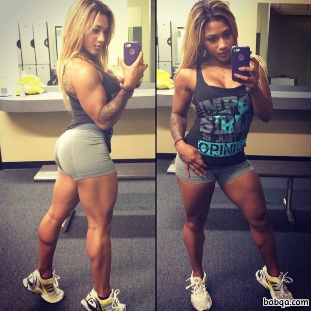 sexy girl with muscle body and toned booty post from facebook